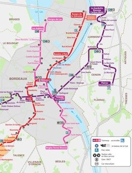 Plan lignes de tram