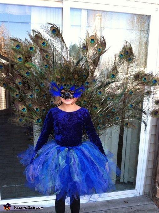 Homemade Peacock Costume - Halloween Costume Contest via @costumeworks