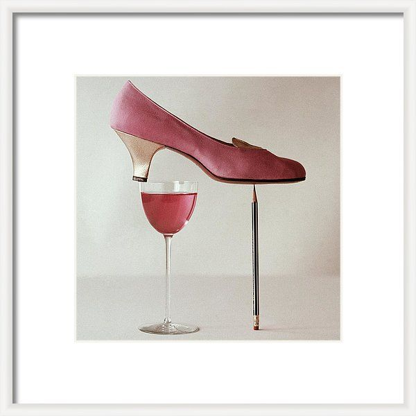 Accessories Framed Print featuring the photograph Pink Capezio Pump by Richard Rutledge