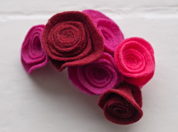 Shades of pink and burgundy hair slide by OhsoStylish on Etsy, £4.25