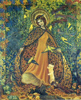 Madonna of the Forest, Kwiatkowska  image from http://campus.udayton.edu/