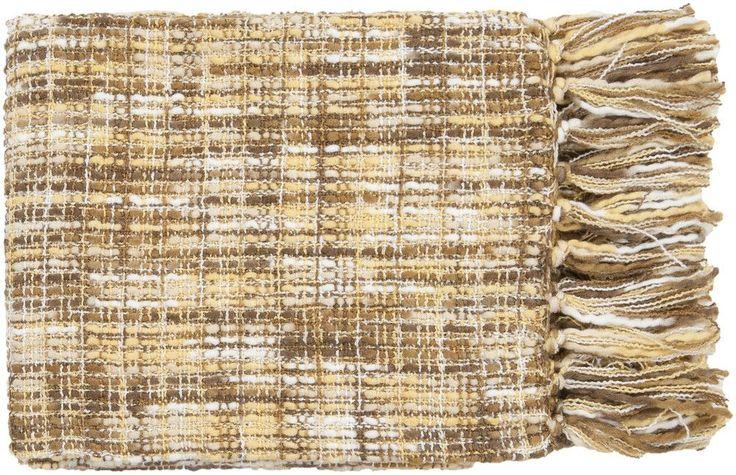 Tabitha Textural Neutral/Brown Throw
