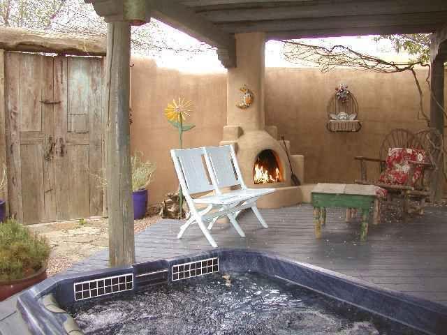 Sunken Hot Tub Private Sunken Hot Tub With Outdoor Kiva