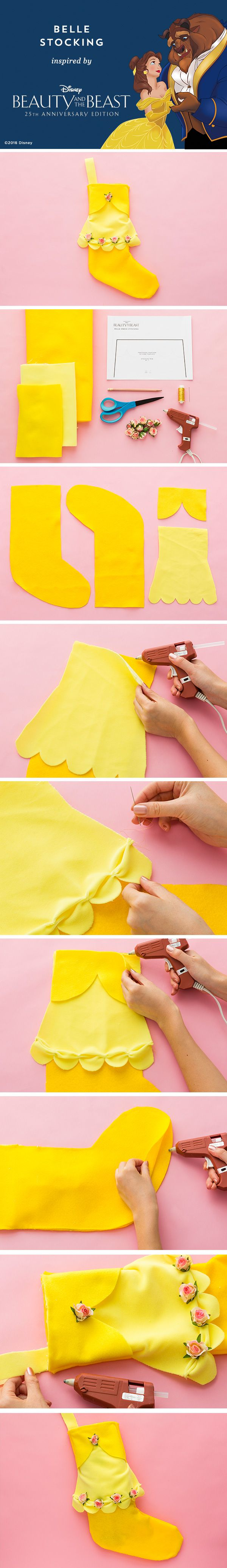 This holiday, enchant your little one with this DIY Belle Stocking.