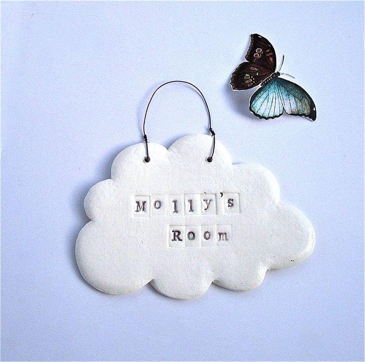 Porcelain Cloud Personalised Name Plaque