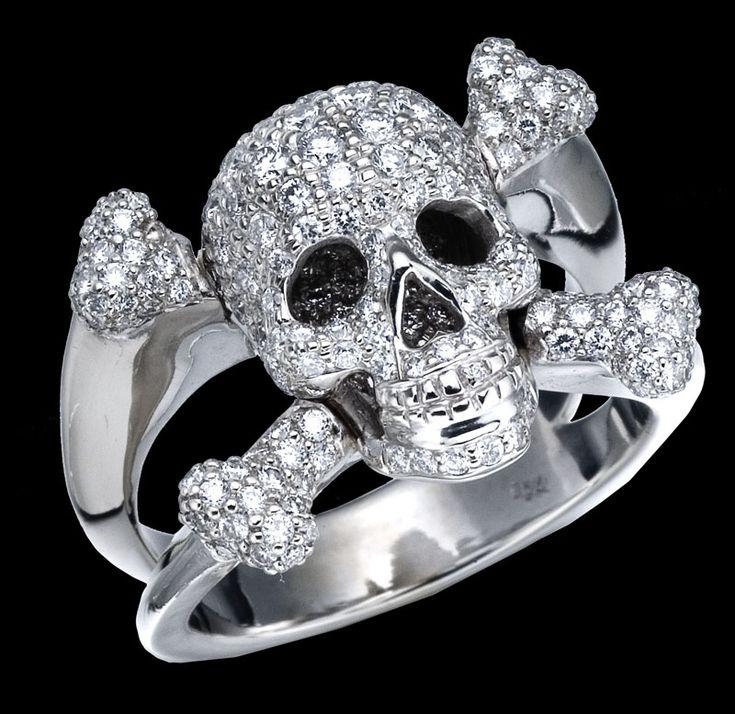 Diamond Skull Ring
