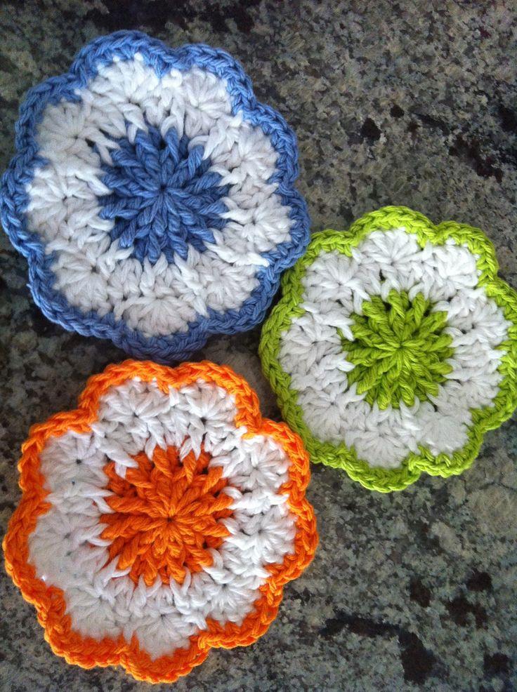 Springtime Coasters By Doni Speigle - Free Crochet Pattern - (ravelry)
