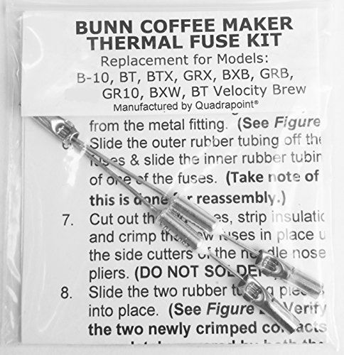 Repair Your Bunn Coffee Maker Water Not Heating Thermal Fuse Harness B10 GRX BXB BTX GRB BR10 BXW BT Velocity Brew ** You can find more details by visiting the image link.  This link participates in Amazon Service LLC Associates Program, a program designed to let participant earn advertising fees by advertising and linking to Amazon.com.