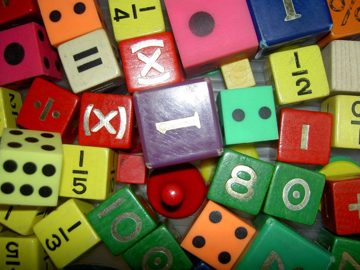 Use fun dice that include more than 1-6 and find new ways to teach addition, multiplication and more!