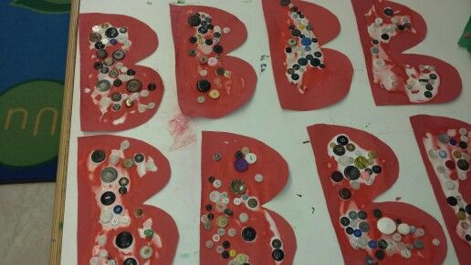 Alphabet week at daycare...b is for buttons :)