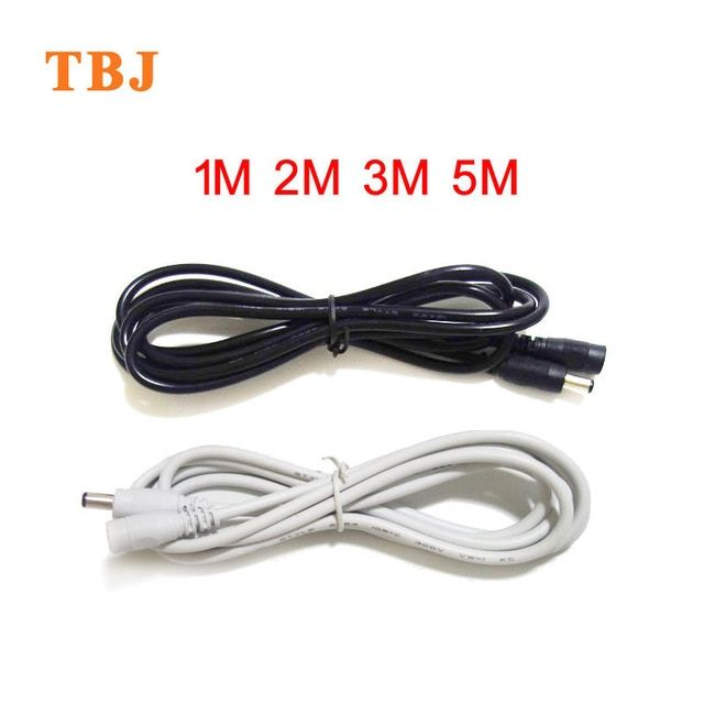 1m 2m 3m 5m 18awg 22awg Black White 5 5mmx2 1mm Female To Male Dc Power Plug Adapter Extension Wire Cable Review Adapter Plug Power Plug Adapter