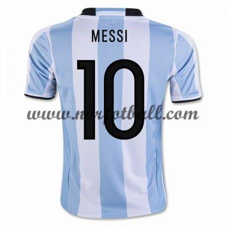 Argentina 2016 Landslagsdrakt Lionel Messi 10 Kortermet Hjemme Fotballdrakter