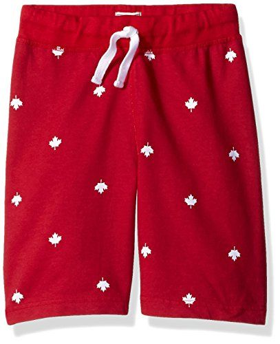 The Children's Place Big Boys Canada Day Short Classic Red X-Large/14