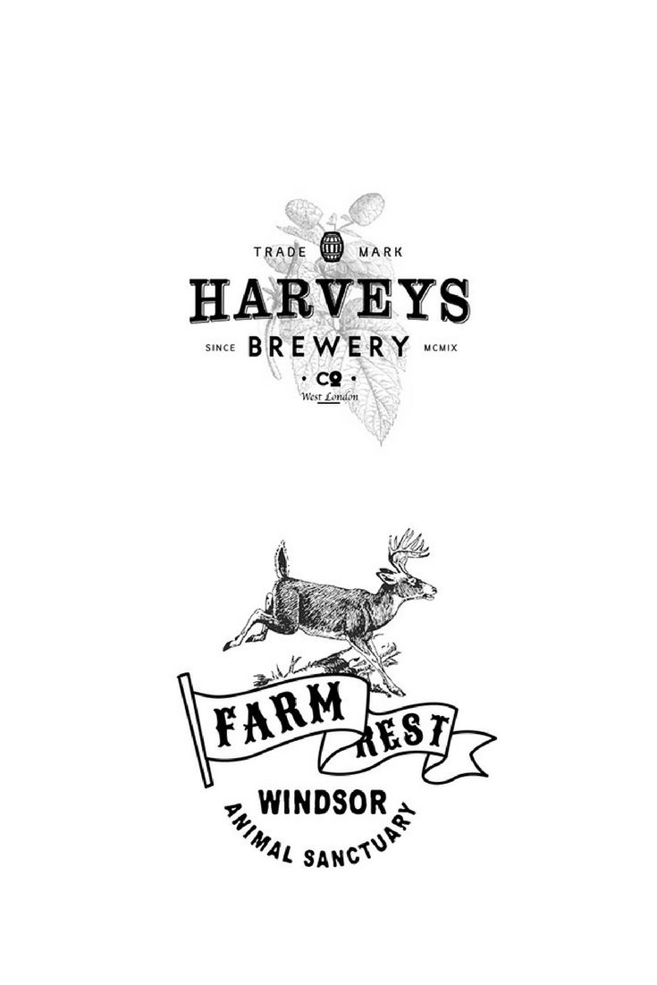 Logotype design for a brewery based in London & a logo design for an animal sanctuary.