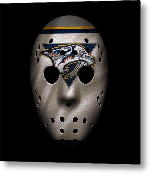 Predators Metal Print featuring the photograph Predators Jersey Mask by Joe Hamilton