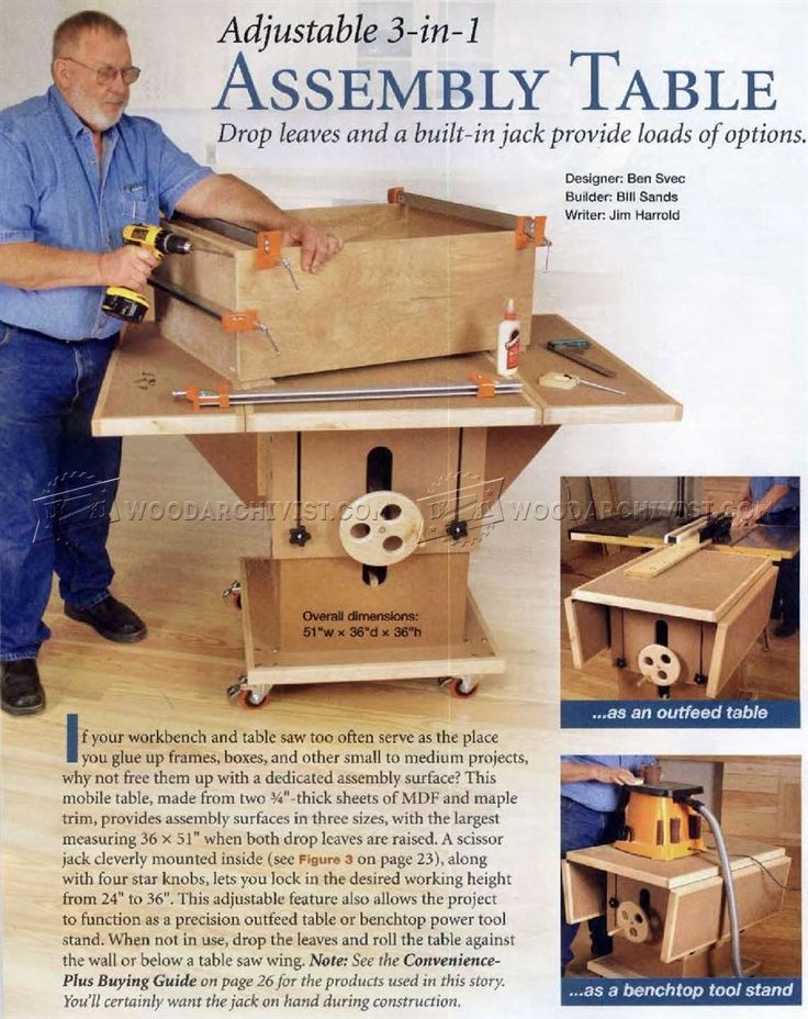 Assembly Table Plans - Furniture Assembly Workshop Solutions