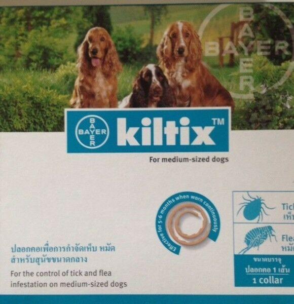 3x Kiltix Dog Collar Size M Tick Flea Neckless 5 Months Control Medium Bayer Dogs Ticks On Dogs Dog Collar Size