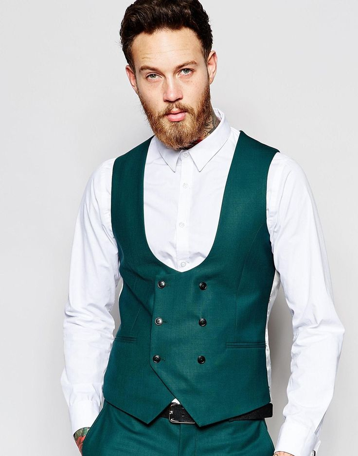 Noose & Monkey Double Breasted Waistcoat With Stretch In Super Skinny Fit. Asos