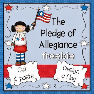 Pledge of Allegiance FREEBIE and a pretty cute story to go along with it!