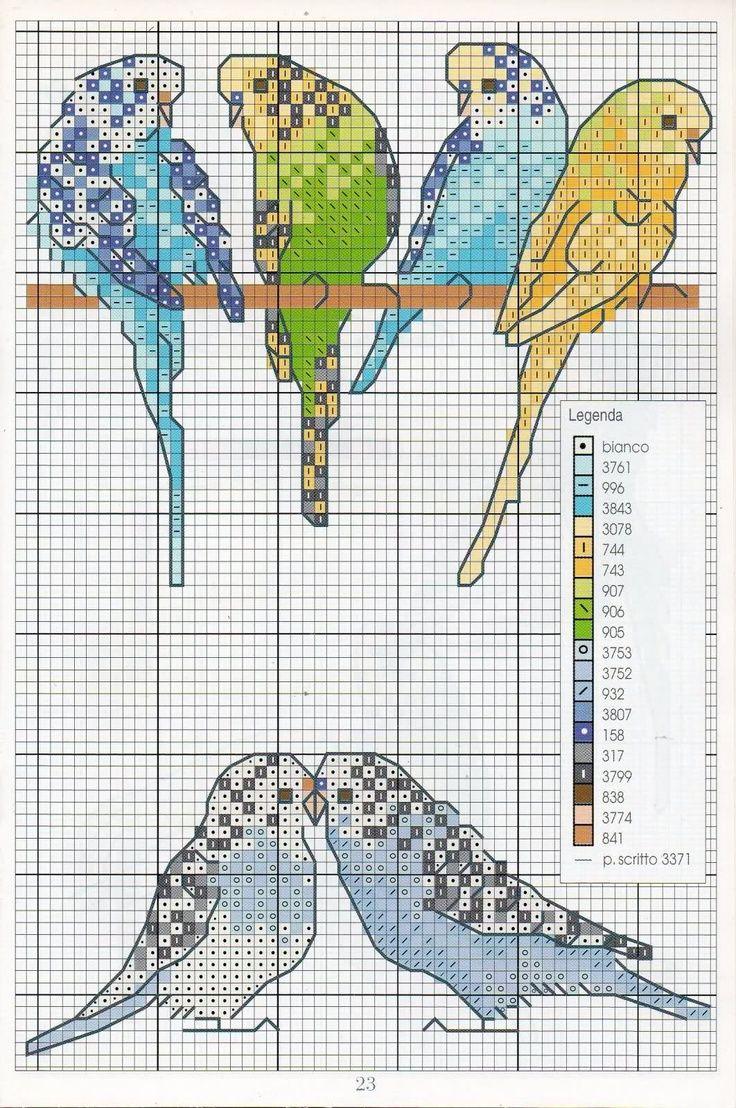 hiroko kubuto   Mi semana en Pinterest (XXII): Pájaros de punto de cruz   La letra B