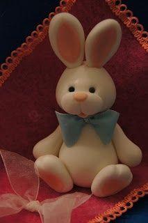 Cute fondant rabbit                                                       …