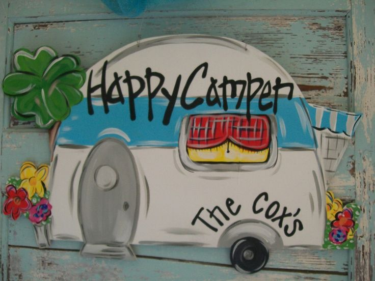 """Spring, Summer, Camping, fun door personalized hanger. Approx. 24"""". $45 plus 12 shipping. Visit Blue Pickle Designs on Facebook for ordering details...& lots more aDOORable door hangers & custom canvas art!"""