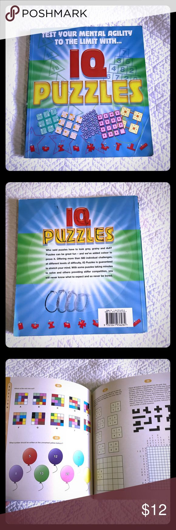 Kids book. Test your mental agility Puzzles book Excellent condition puzzle book for children Other