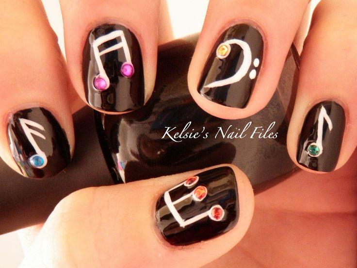 Musical Nails {Kelsie's Nail Files: ♪ Musical Nails ♬}