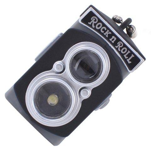 Classic Mini Camera Toy with Flash Light + Sound (Black)