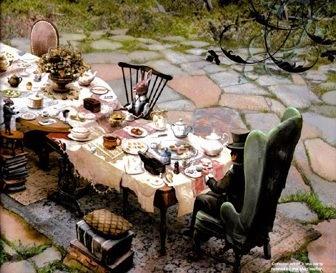 Mini Alice's Tea Party - love it.