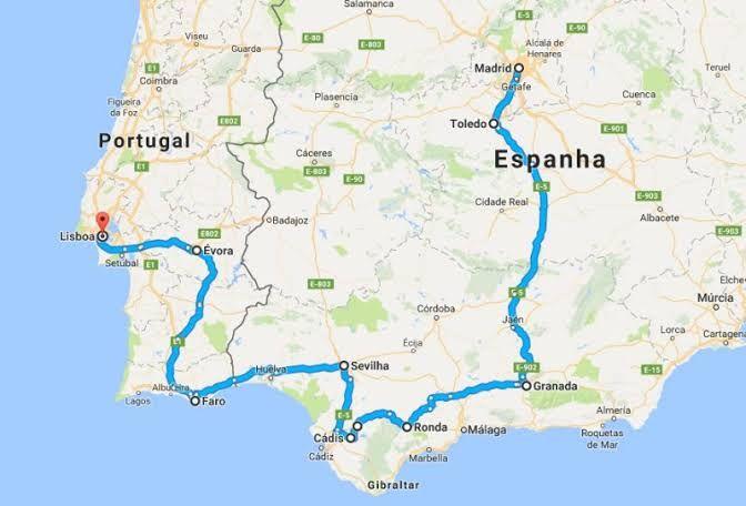 Mapa Espanha E Portugal.Mapa Portugal E Espanha Juntos Pesquisa Google Em 2020 Espanha Roteiro Portugal Portugal