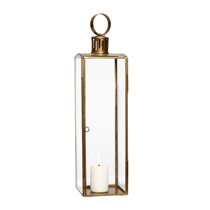Glass and brass lantern. Product number: 408015 - Designed by Hübsch