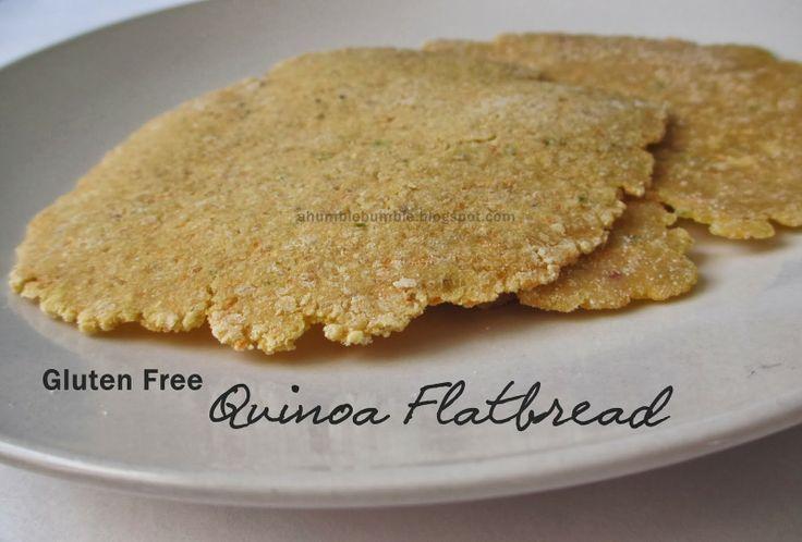 Gluten Free Quinoa Flatbread Recipe