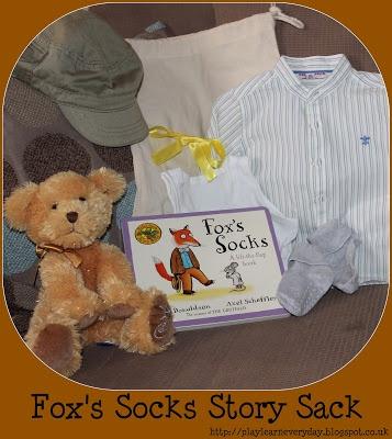 Play & Learn Everyday: Fox's Socks Story Sack