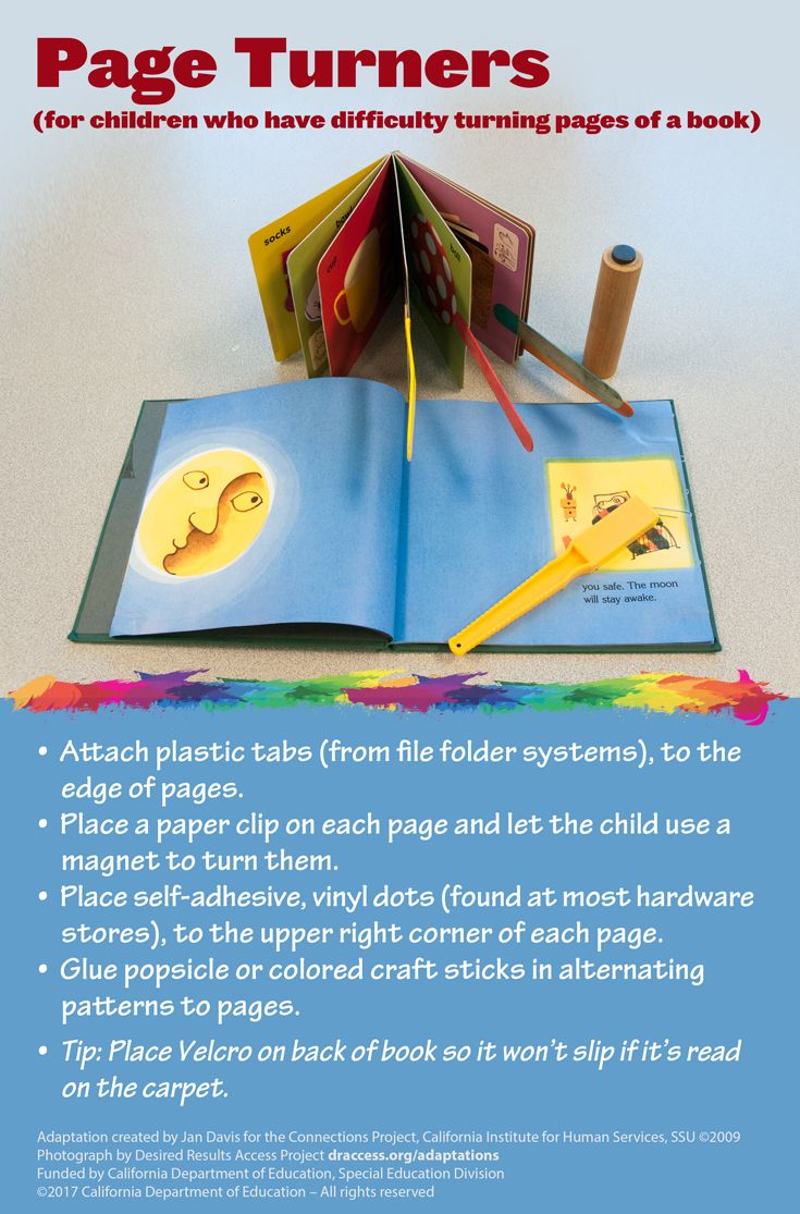 Would Special Education Rights Be Safe >> A Variety Of Page Turner Solutions That Can Assist Children Who Have