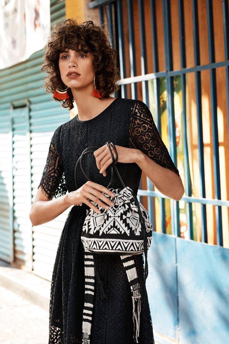 Mica Arganaraz, Argentine model for H & M Spring 2016 Campaign | via www.orientsystem.com