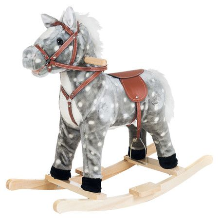 Your little cowboy will shout yippee-ki-yay when he sees this classic plush rocking horse toy, a perfect addition to the playroom or den.  ...