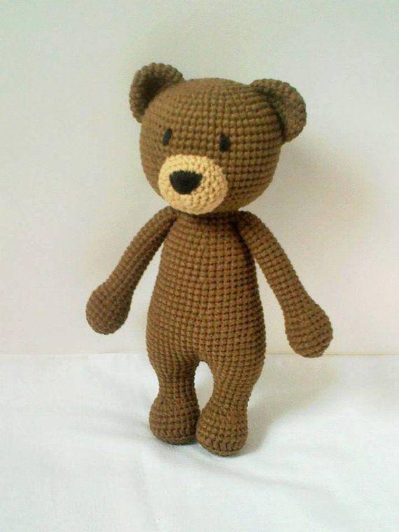 Handmade Crochet Koala Brown Teddy Bear by ElaMakrelaCrochet