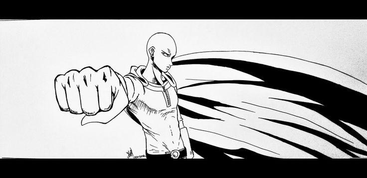 Saitama | One Punch Man by artmaker77.deviantart.com on @DeviantArt