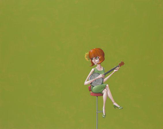 Banjo - 70 x 100 cm - acrylverf op doek / acrylic on canvas - 2013 - € 1.800,-