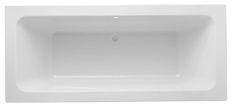 Cooke & Lewis Valerian Acrylic Twin Ended Bath (L)1700mm (W)750mm | Departments | DIY at B&Q