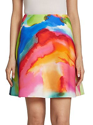 Ralph Lauren Collection Corinne Splash-Print Skirt
