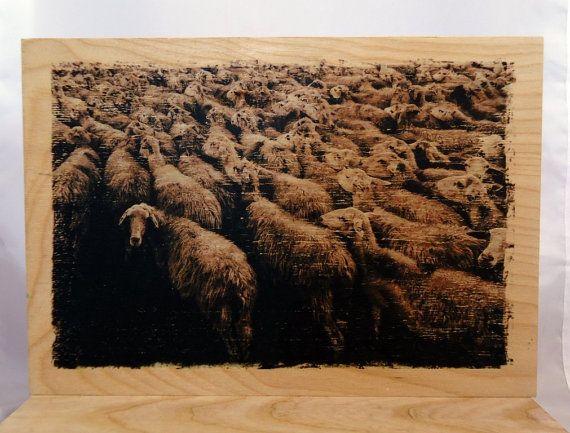 Image on wood sheep. by VipWood on Etsy