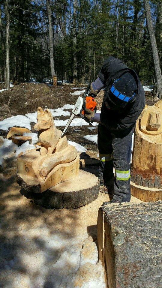 Pin von three cedars artisans auf chainsaw pinterest