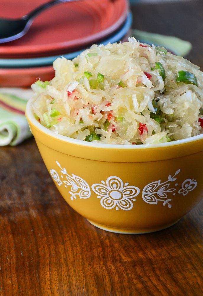 Sauerkraut Salad Recipe from The Rochester Junior League Cookbook Applehood and Motherpie