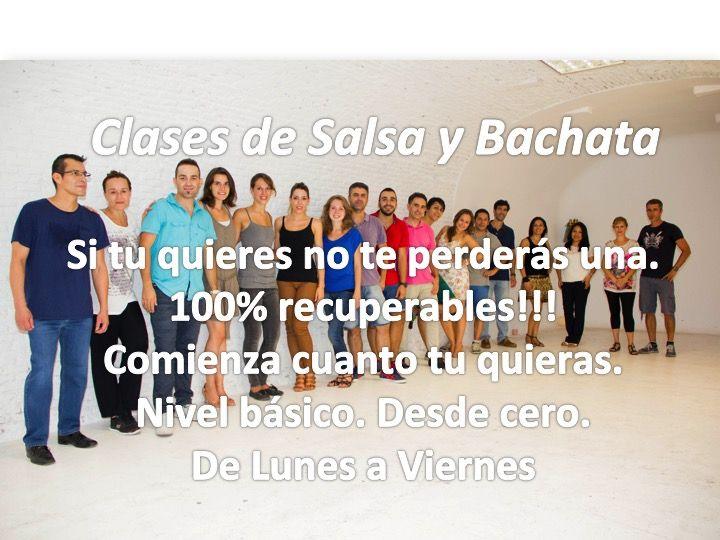 Clases de Salsa y Bachata de lunes a vieres de 19h a 20h y de 20h a 21h