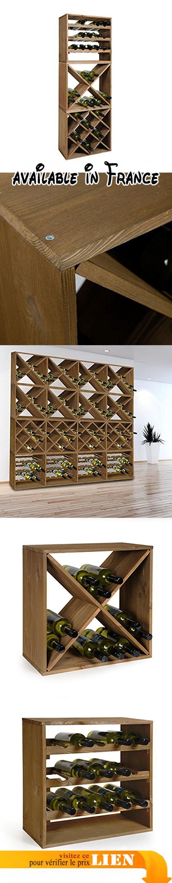 Système d' étagère à vin CUBE 50, en bois massif, tobacco, Kit de 3, Losange, croix et standard, H 150 x L 50 x P 25 cm. Mesure: H 150 x L 50 x P 25 cm. Construction solide en bois. Différents modules au choix. Nos meilleures ventes d'étagères à vin en bois!. Le montage est un jeu d'enfants #BISS Basic #MATERIAL_HANDLING