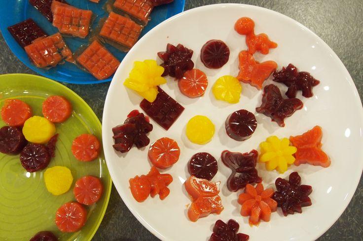Heerlijk recept voor GEZONDE fruitsnoepjes. Leuk om samen met kinderen te maken en, oh zo fijn, vooral verantwoord en lekker!