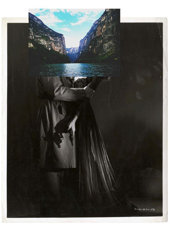 Deception XXI  Surreal Digital Collage print by Posterium on Etsy, $15.00