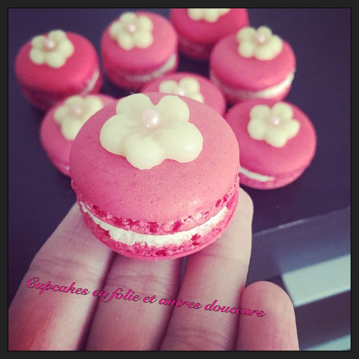 Macarons chocolat blanc & fraises